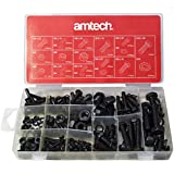 Am-Tech - Juego de tornillos y tuercas (240 piezas)