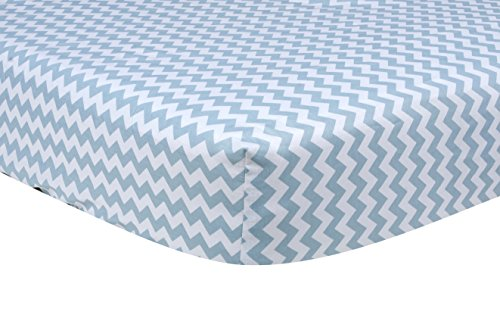 (Trend Lab Blue Sky Chevron Crib Sheet by Trend Lab)