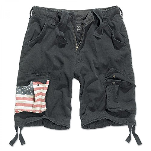 Brandit Urban Legend Short Stars&Stripes Black S
