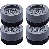 Queta 4Pcs Patins Anti Vibration Tampon Anti-vibration Lave Linge Universel Pieds Stabilisateur Piédestal pour Lave-Linge Réf