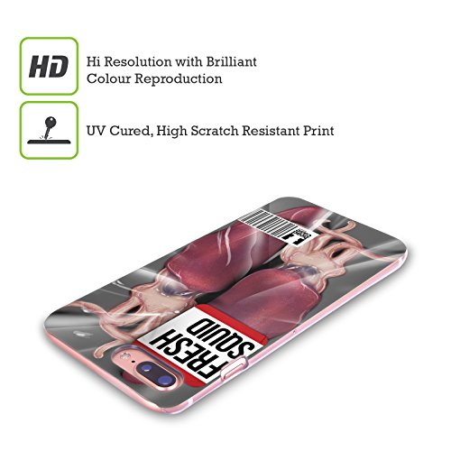 Head Case Designs Calamaro Fresco Carne Cruda Cover Retro Rigida per Apple iPhone X Calamaro Fresco