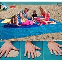 Drap de plage anti-sable pour l'été sans stress et sans sable pour ceux qui aiment toujours rester propres 200x 200cm