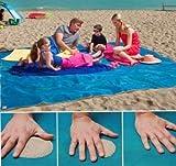 Strandtuch anti-sabbia für Ihre Sommer ohne Stress und ohne Sand-Liebhaber stehen immer sauber 200x 200cm