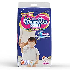 MamyPoko Pants Extra Absorb Diaper Extra Large Size(38 Count)