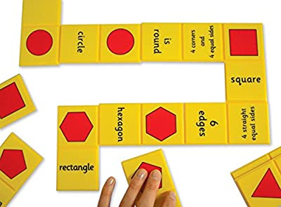 """Inspirational Classrooms 3108601 """"Numbers and Shape Dominoes Educational Toy from EdTech"""