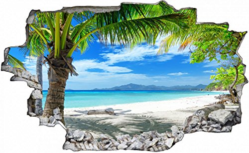 Palmen Meer Strand Beach Karibik Wandtattoo Wandsticker Wandaufkleber C0316 Größe 70 cm x 110 cm