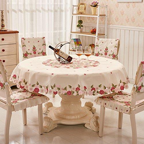 Nappe européenne Chiffon de table en tissu rond brodé couverture de nappe européenne serviette linge de table ( taille : Round-145cm )