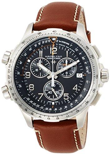 hamilton caballero quarzo cronometro correa piel ref H77912535