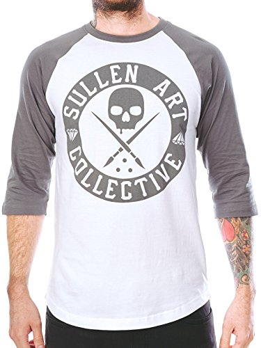 Sullen Men's BOH Cypress Raglan LS T Shirt White 3XL (Boh T-shirt Mens)