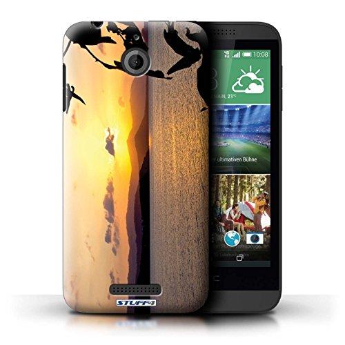Kobalt® Imprimé Etui / Coque pour HTC Desire 510 / plage conception / Série Coucher du Soleil Chaîne de montagne
