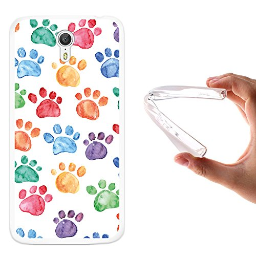 WoowCase Lenovo ZUK Z1 Hülle, Handyhülle Silikon für [ Lenovo ZUK Z1 ] Hund Fußabdruck Handytasche Handy Cover Case Schutzhülle Flexible TPU - Transparent