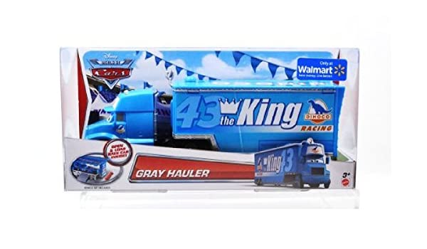 Disney Pixar Cars • Gray Hauler Dinoco The King • 2015 Walmart Exclusive Mattel