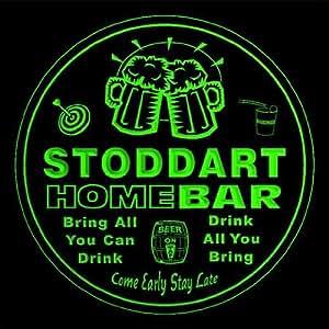 4x ccq43360-g STODDART Family Name Home Bar Pub Beer club Gift 3D Coasters