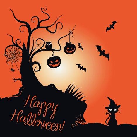 20 Servietten Halloween / Halloweendeko / Fest - La Halloween-fest Hexe