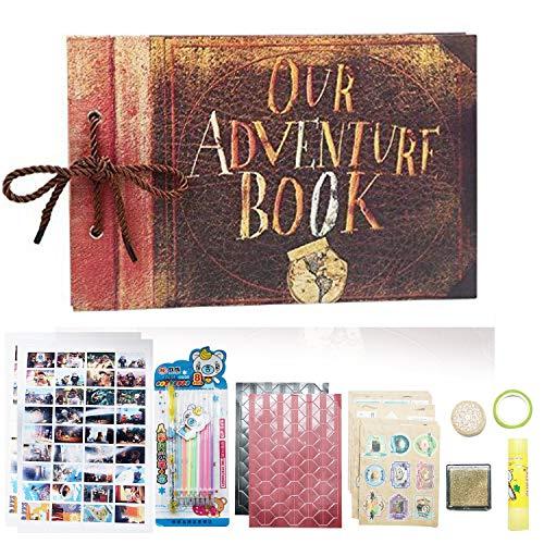 16321275c1762d DEBON Funda de piel de nuestro libro de aventuras hecho a mano hoja suelta  álbum de