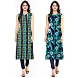 Kurti On Sale 2018 HOC Kurti Long For Women Latest Design Party Wear Kurti Latest Design Kurti Materials For Women Unstitched Kurtas For Womens Below 300 Kurta And Kurti For Women Ladies Kurta Cotton Latest Design Kurta Dresses For Women - B07DX34SQ2