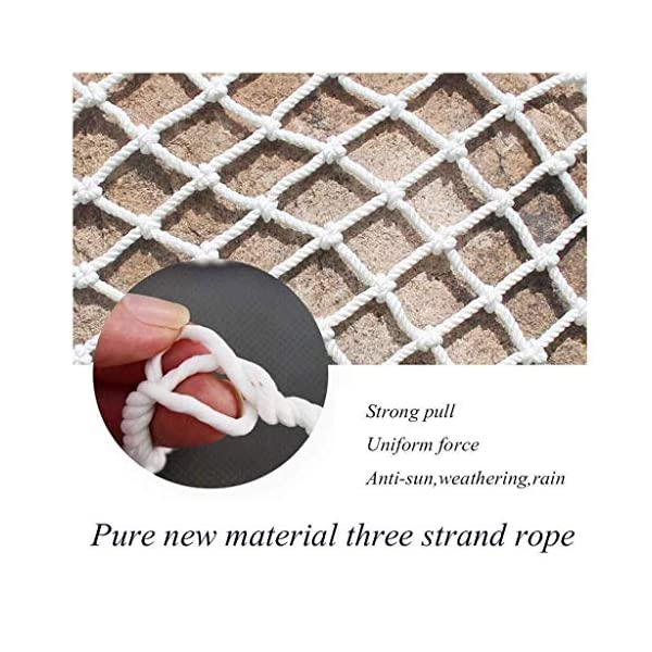 Protective net, anti-fall safety net cat net balcony safety net children's fence net safety net decoration net kindergarten playground park stadium multi-purpose (Size : 10 * 10M(33 * 33ft))  ◆ Safety net wire diameter 6MM, mesh spacing 10CM.Color: white rope net.Our protective mesh can be customized according to your needs. ◆Protective net material: Made of nylon braided rope, hand-woven, tightened.Exquisite workmanship, solid and stable, can withstand 300kg weight impact. ◆Features of decorative net: soft material, light mesh, multi-layer warp and weft, fine wiring, fine workmanship; clear lines, non-slip durable, anti-wear. 4