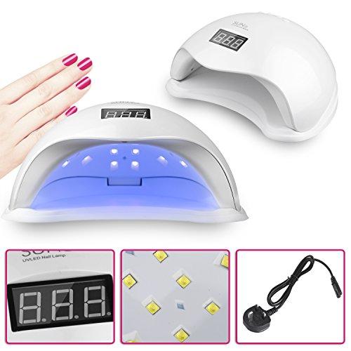 Vinteky® 48W LED Séchoir à Ongles Séchoir de Gel UV Lampe Sèche-ongles à LED pour gel UV, gel LED pour un usage professionnel et domestique