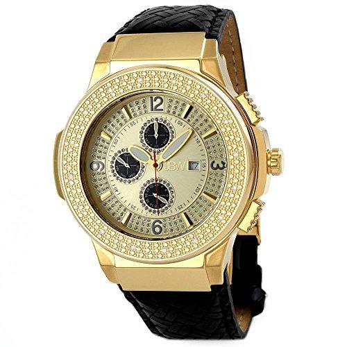 jbw saxon quartz watch black 46mm