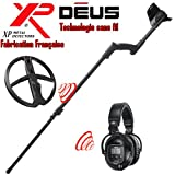 Xp Metal Detectors - Détecteur De Métaux Deus Light4 - Technologie Sans Fil - Casque Sans Fil Ws5 - Disque Dd 28 Cm Avec Protège Disque - Canne Télescopique En S