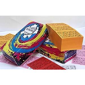 Cartones de bingo. Pack de 900 unidades numeradas del 1 al 900. Los números están troquelados para facilitar la marca sin llegar a desprenderse del todo.
