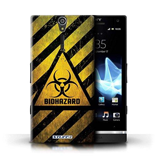Coque de Stuff4 / Coque pour Sony Xperia S/LT26i / Bruit/Musique Design / Signes de Danger Collection Biohazard