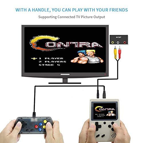 leegoal Handheld Spielkonsole, 2 Player Mini Handheld 3 Zoll Q3 FC System Gaming Controller mit 168 Classic Games, Extra Joystick Console Support TV, Geburtstags-Geschenke für Kinder