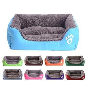 Malloom animal de compagnie chien chat lit chiot maison de coussin moelleux chaud chenil chien mat couverture
