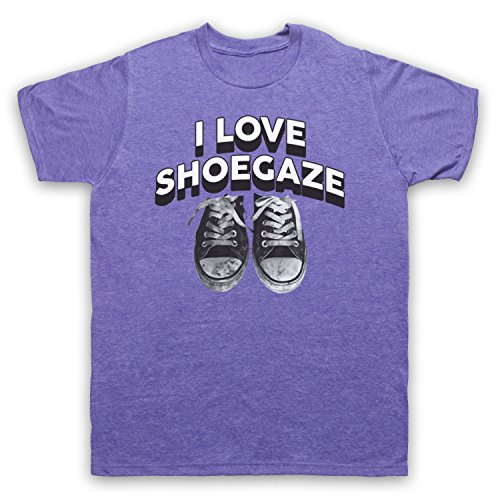 I Love Shoegaze Indie Alternative Rock Fan Herren T-Shirt Jahrgang Violett