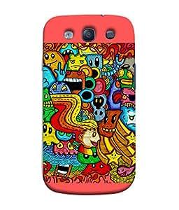 PrintVisa Colourful Design 3D Hard Polycarbonate Designer Back Case Cover for Samsung Galaxy S3 Neo I9300I :: Samsung I9300I Galaxy S3 Neo :: Samsung Galaxy S Iii Neo+ I9300I :: Samsung Galaxy S3 Neo Plus