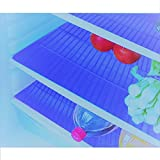 E-Retailer Plastic Fridge Mat Refrigerator Drawer Mat/Fridge Mat/Place Mat Set Of 3 Pcs (13*19 Inches) Multi Purpose Use (Blue, Free)