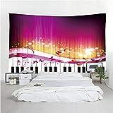 LoveTapestry Tapicería Mandala Colgante de Pared Decoración de Dormitorio Bohemio Piano Música Boho Ropa de Cama Manta de Tiro de Playa Colcha de Oro Blanco Meditación Alfombras de Yoga