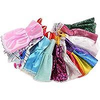 Trifycore 10 Stück Kleider für Barbie Fashion-Parteikleid Kleider für Barbie-Puppen Mädchen