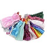 NiceButy 10 Barbie-Kleid-Mode-Partei-Kleid Barbie Kleider für Mädchen