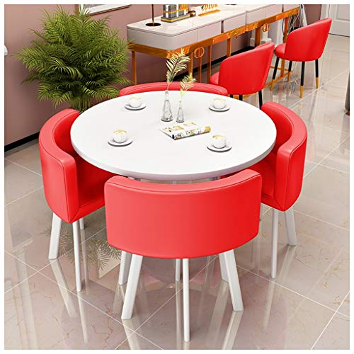 Einfacher Tisch Und Stuhl Kombination Wohnzimmer Küche Schlafzimmer Studie Tisch Büro Empfang Freizeit Im Freien Balkon Garten Bibliothek Kino Cafe 4s Autogeschäft Korridor Kleiner Runder Tisch