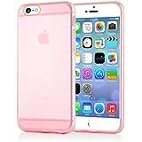 delightable24 Schutzhülle TPU Silikon für Apple iPhone 6 / 6S Smartphone - Rosa / Pink Transparent