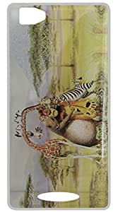 Vcare Shoppe Sparkle Effect Printed Back case cover for Lava X11