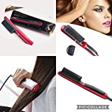 MAX HOME® Hair Straightener Durable Electric Straight Hair Comb Brush LCD Heated Ceramic Hair Straightening Brush...
