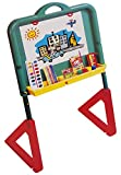EBBE Kids Drawing Board Easel with Art Accessories - Water Colours Markers Wax Crayons Blackboard Eraser Chalk Paper Sheets - Children Writing Doodle Painting Adjustable Learning Whiteboard Toy