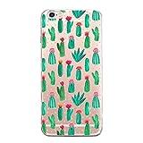 CAOLATOR Handy hülle Rückschale Schutzhülle Weiche Transparente kratzfeste Schutzhülle Abdeckung für iPhone 6/6s (Kaktus)