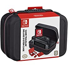 RDS Industries Nintendo Switch System Carrying Case  Protective Deluxe Travel System Case  Black Ballistic Nylon Exterior  Official Nintendo Licensed Product
