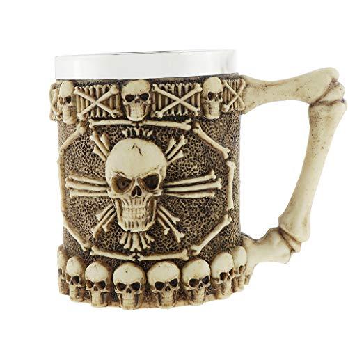 Taza Decorativa del Esqueleto De Cerámica del Cráneo 450ml Taza...