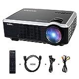 Beamer HD Projektor LED-Beamer 3000 Lumen  854*540 Beamer Unterstützt 1080P...