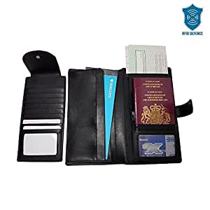 Rfid defence passport holiday travel document holder for Best travel document wallet