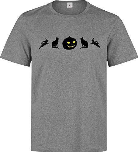 Halloween icons dope t-shirt herren baumwoll grau (Cartman Halloween)