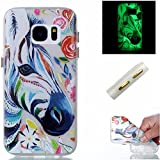 Galaxy S7 Hülle,Galaxy S7 Case,Cozy Hut ®TPU Leuchtende Nacht Silikon Schutzhülle Handyhülle Painted pc case cover hülle Handy-Fall-Haut Shell Abdeckungen für Samsung Galaxy S7 - Zebra