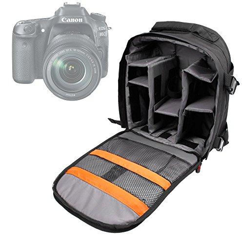 DURAGADGET Rucksack Wasserfest + Wasserdichte Tasche für Kamera Canon EOS 1300d/Rebel T6