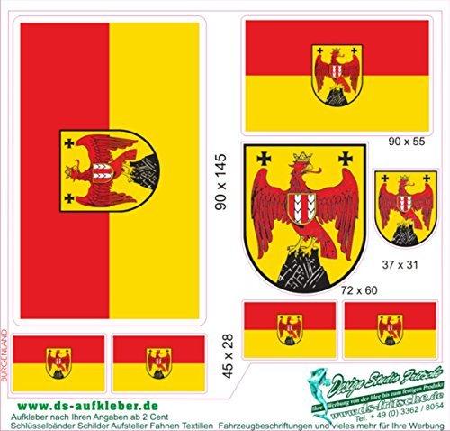 Aufkleber Set Österreich Burgenland