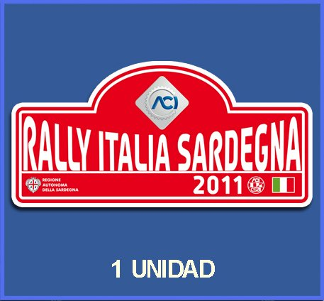 Ecoshirt K3-3WA7-MURW Aufkleber Stickers Italia Sardegna 2011 Dp583 Aufkleber Autocollants Adesivi Car Decals Rally Rallies
