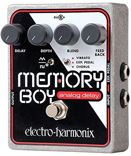 electro-harmonix Memory Boy Memory Boy Pedal - Pedal de efecto eco/delay/reverb para guitarra, color plateado